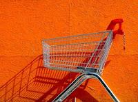 orange wall trolley
