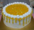 "Mango Mousse Cake @ RM70 (9"") RM45 (7"")"