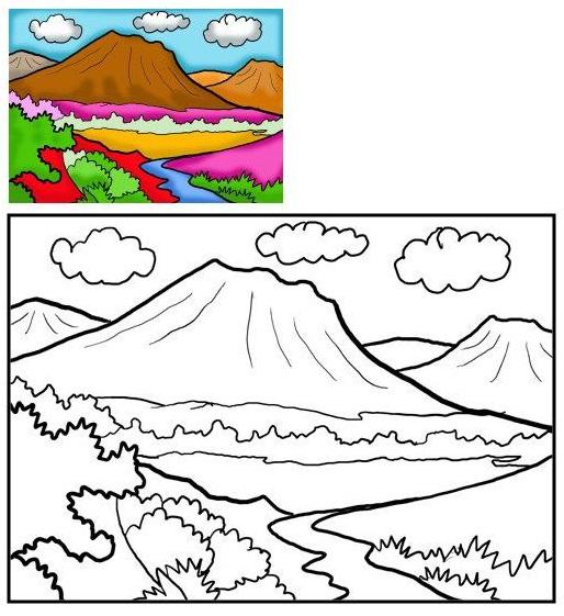 Dibujos de montañas para colorear e imprimir - Imagui