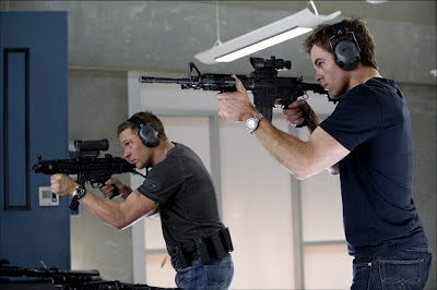 Esto es la guerra - Tom Hardy (Tuck) y Chris Pine (FDR Foster)