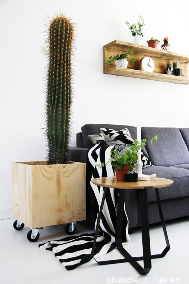 Table Tisch Puik Art schwarz Holz