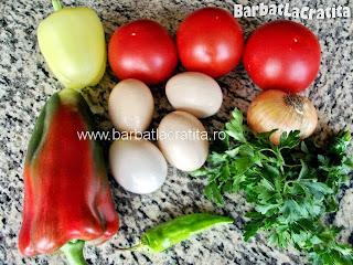 Oua cu legume ingrediente reteta