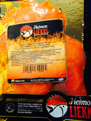 Finnish flame smoked salmon