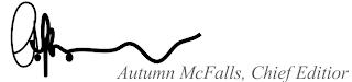 Autumn McFalls, Chief Editor