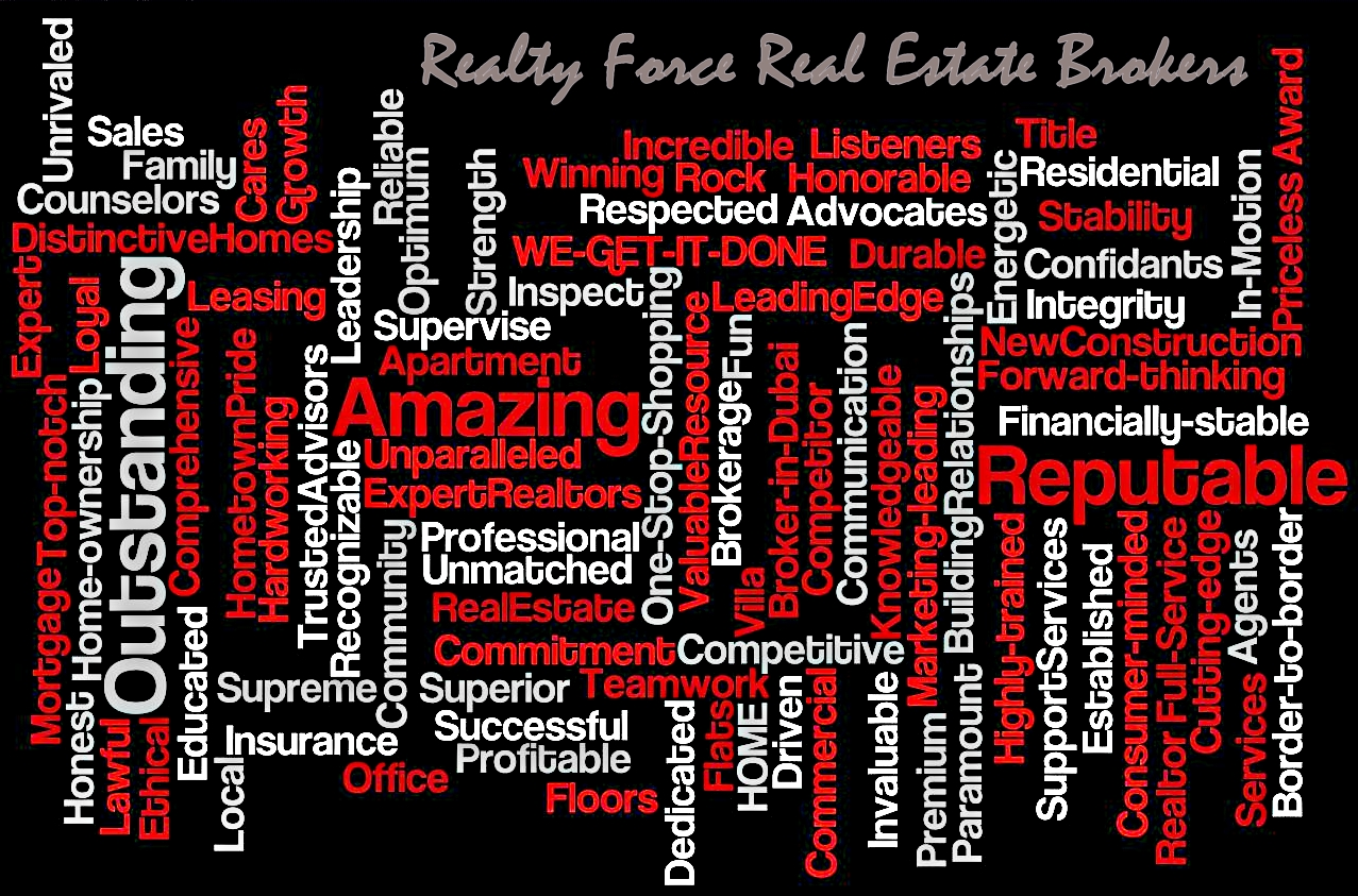 realty force real estate brokers this we assure you that we are confident enough on our actions we do establish self discipline we are optimistic and we constantly strive for