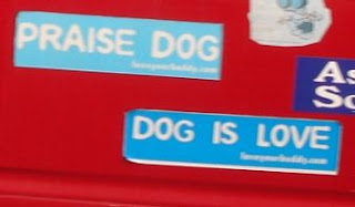[Image: Bumper+Sticker+-+Asheville+-+Praise+Dog3.JPG]