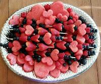 Valentine's Fruit Platter