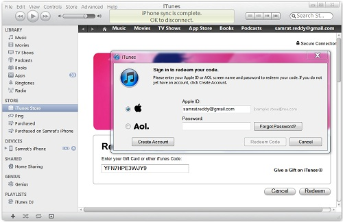To redeem Free iTunes Redeem Codes in iTunes on your computer 02