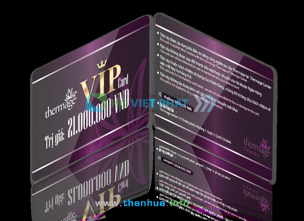 VIP Card dùng cho chương trình khuyến mãi giảm giá