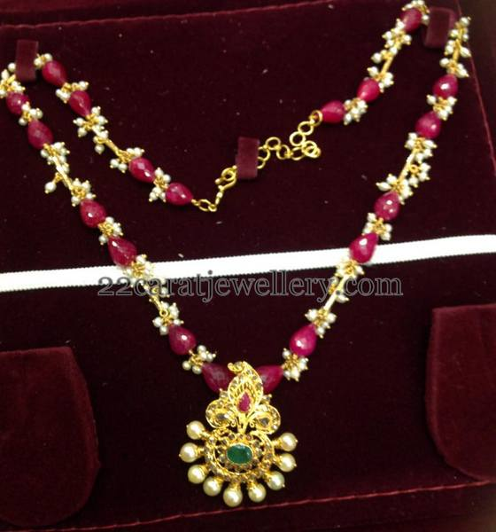 20 Grams Ruby Beads Necklace