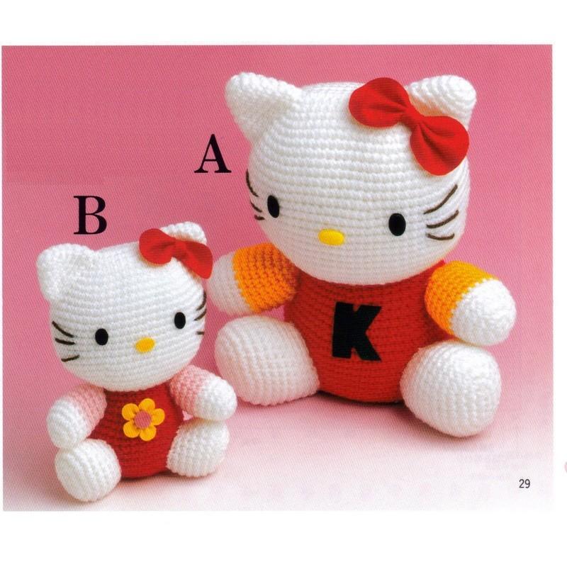 Amigurumi De Hello Kitty : Amigurumi 2 Sizes Large and Medium Hello Kitty Plush ...