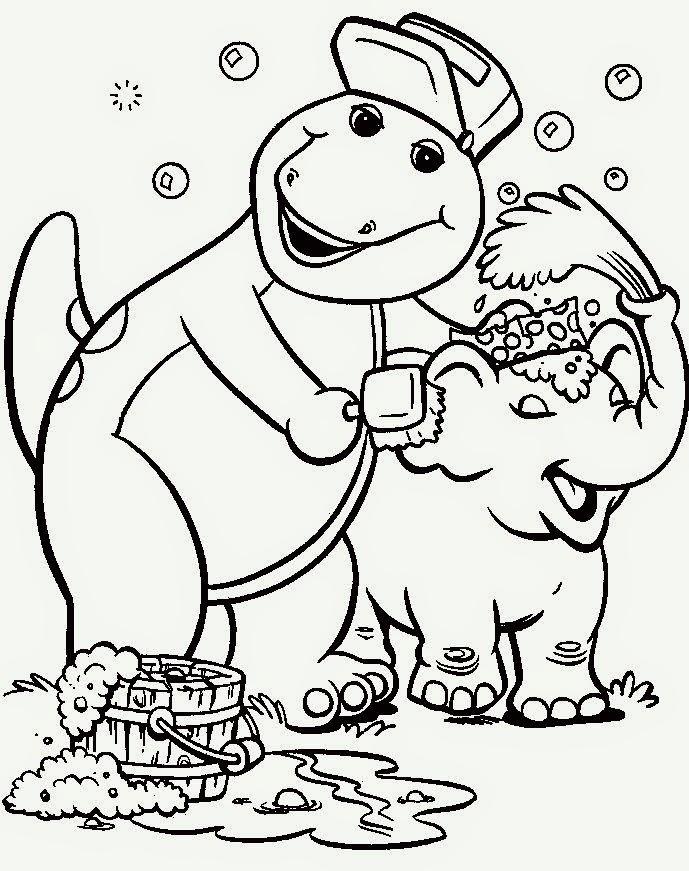Encantador Barney Y Amigos Para Colorear Páginas Cumpleaños ...