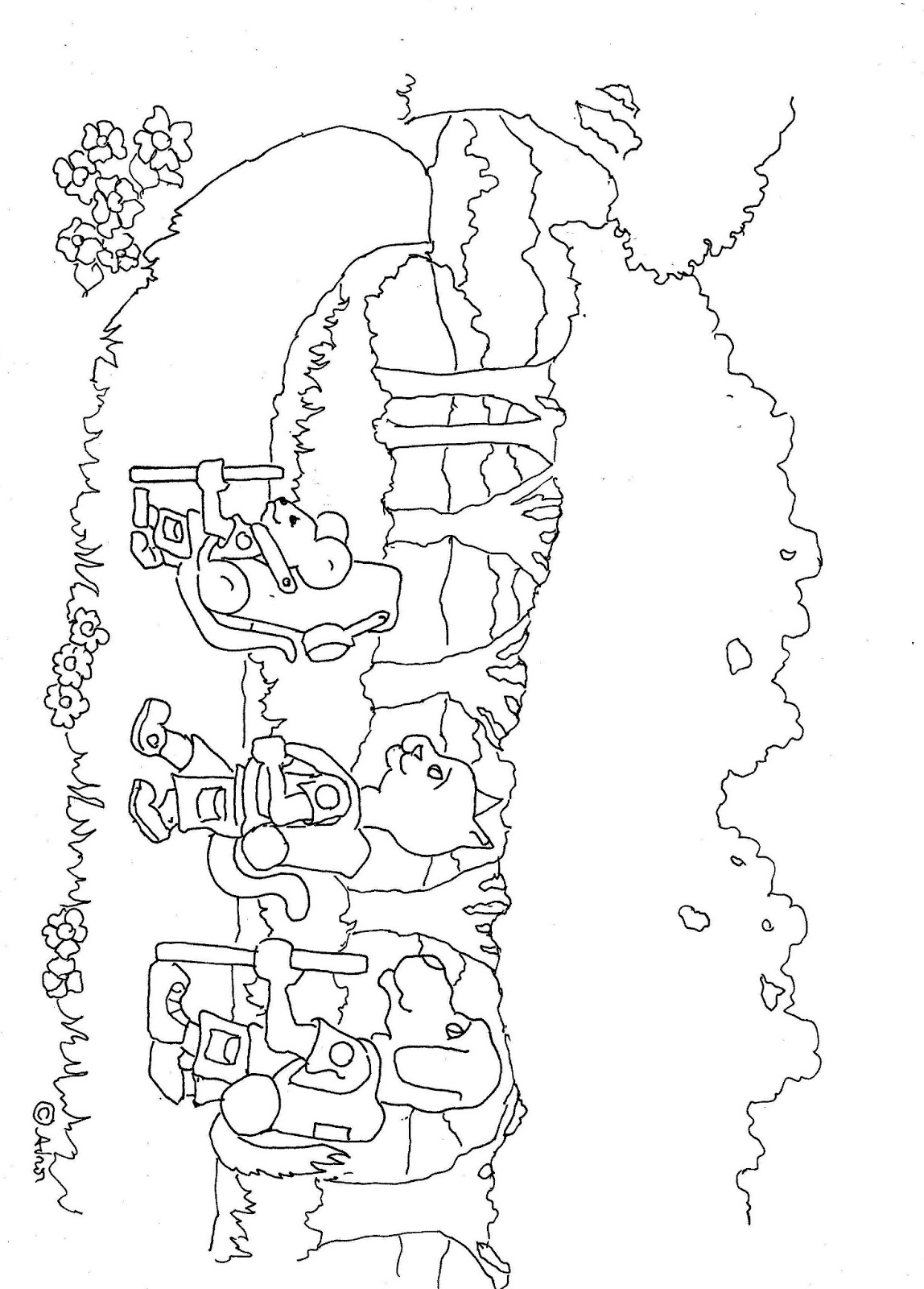 hiking coloring pages for kids - photo#20