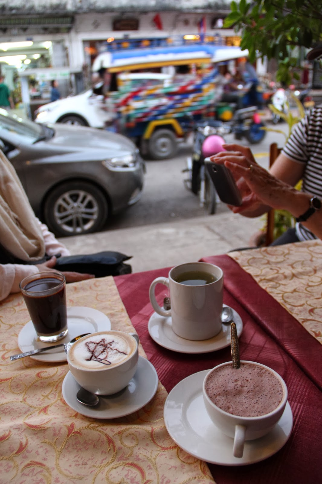 Lao Coffee and assorted fripperies in Luang Prabang.