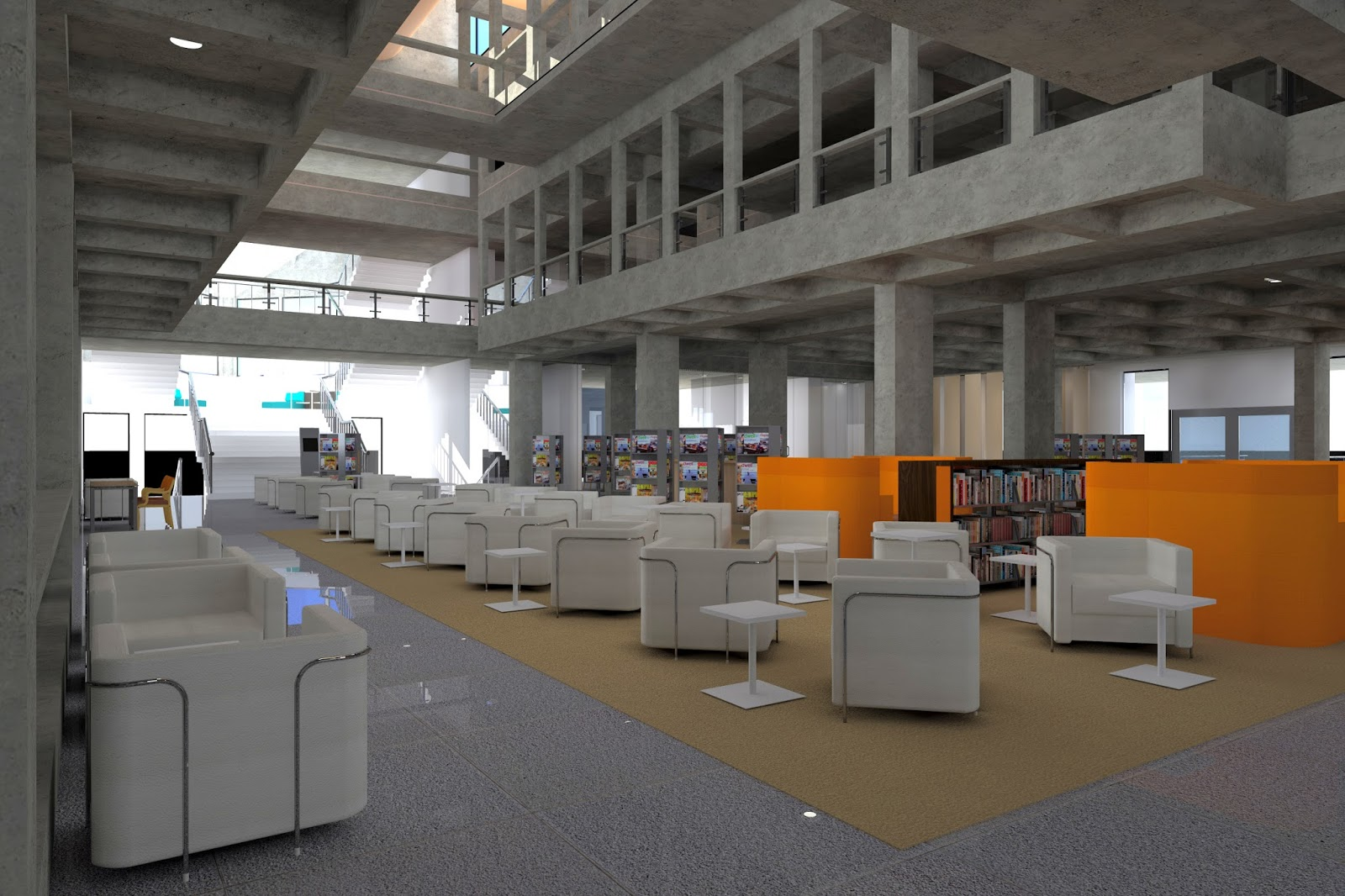 IIMB LIBRARY INTERIORS ( IN COLLABORATION WITH NID )