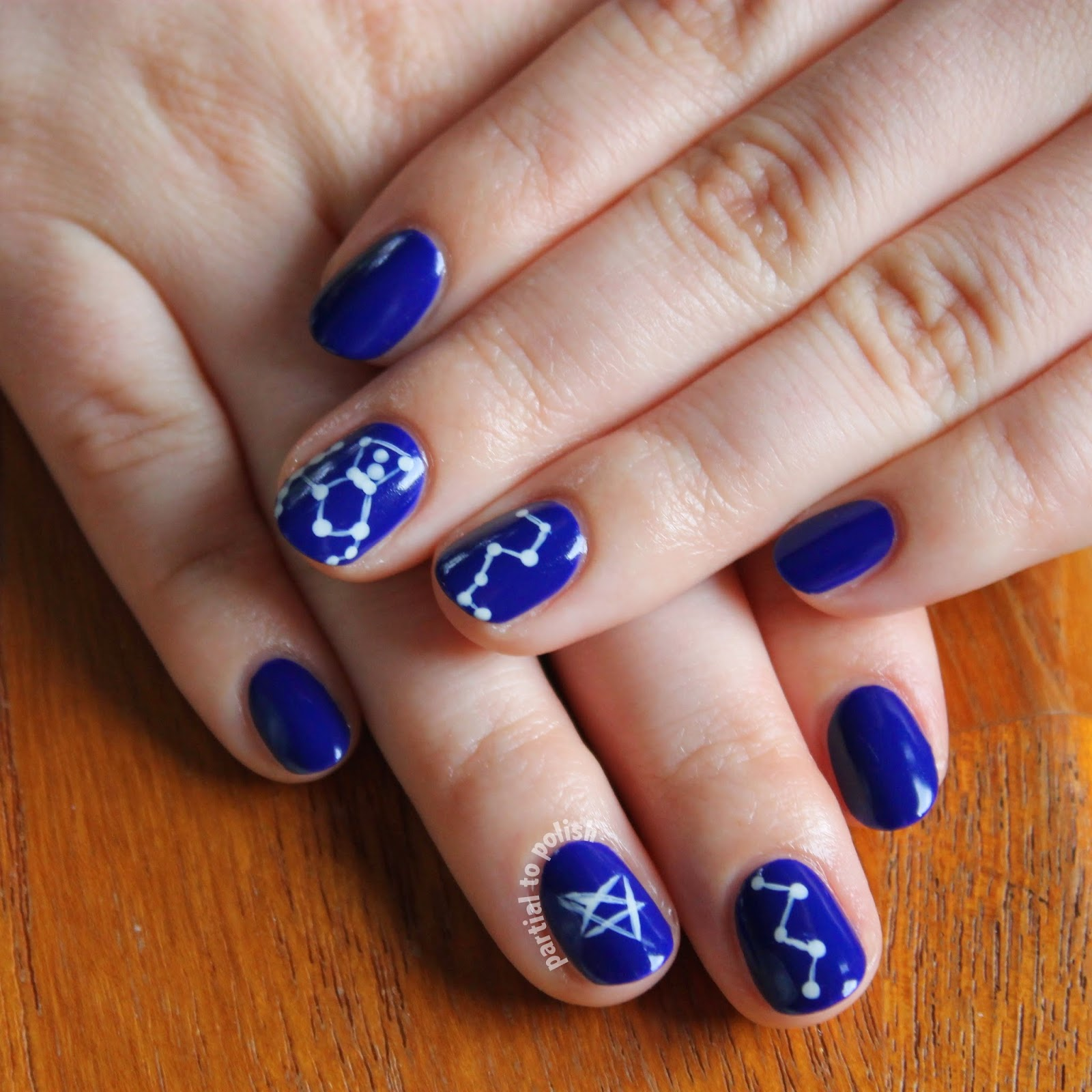 Simple Constellation Nail Art: Partial To Polish: OPI Constellation Nail Art