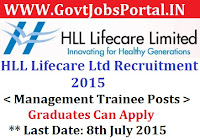 HLL Recruitment 2015