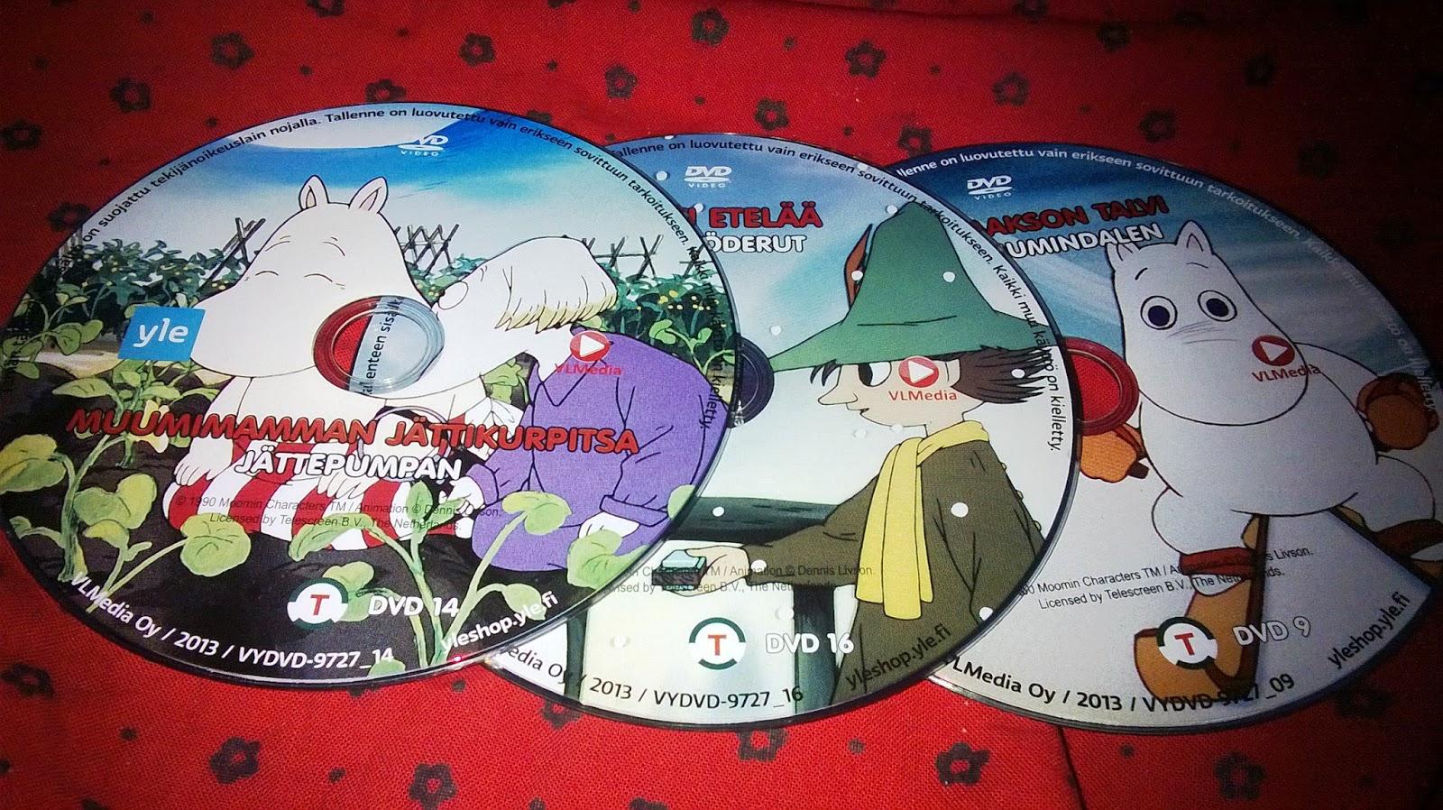 Muumi dvd hinta
