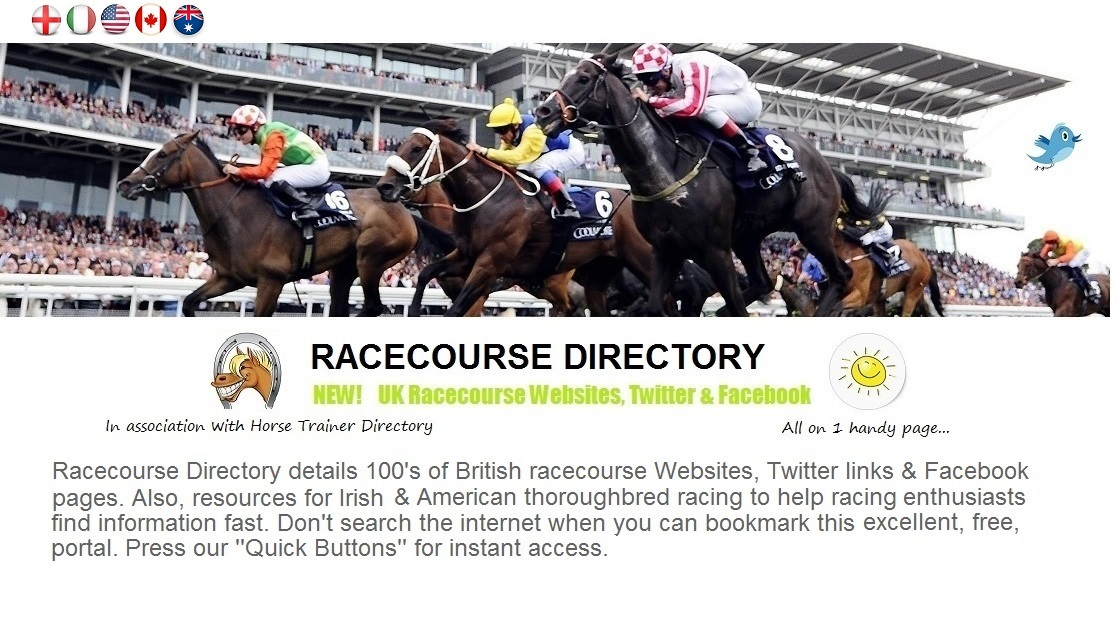 RACECOURSE DIRECTORY - FIND IT FAST