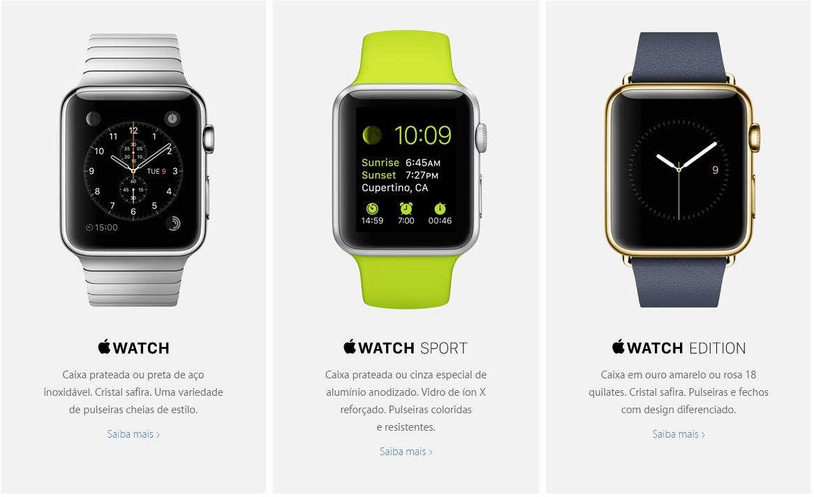 Apple Watch - Edições