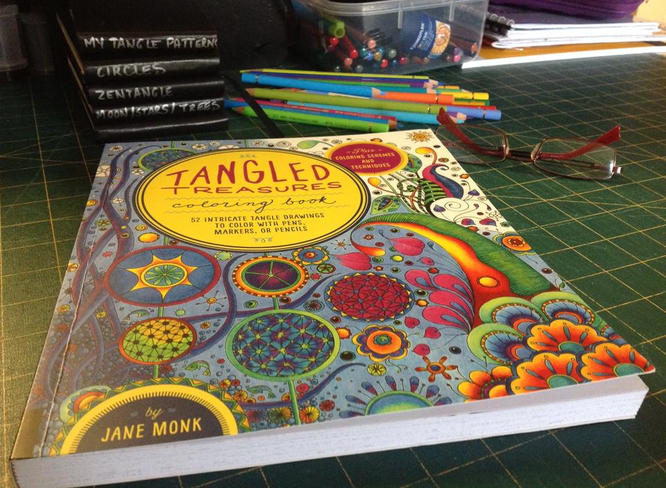 tangled treasures coloring book is in the house - Zentangle Coloring Book