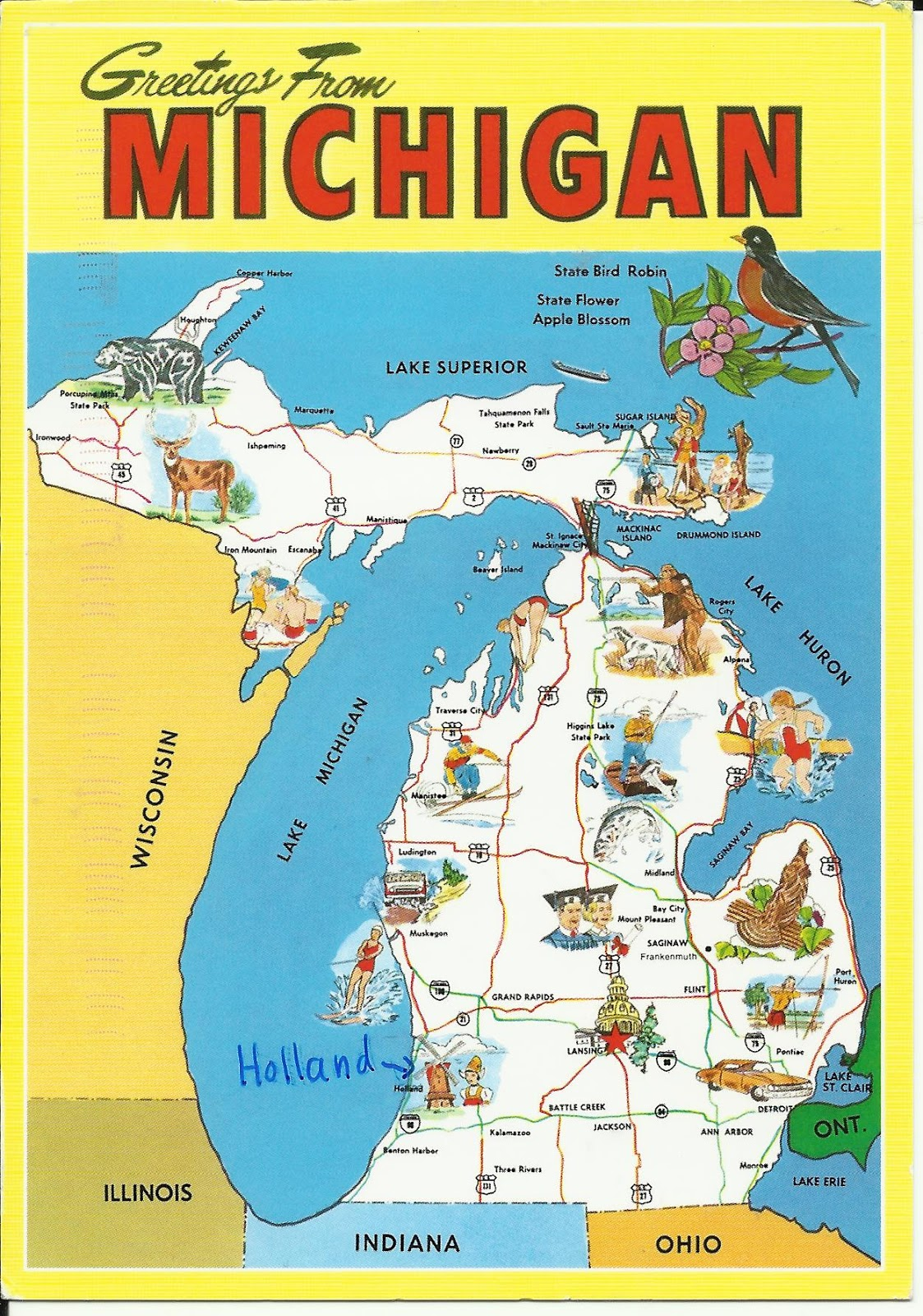 Scrapping Cavewoman: A Postcard a Day - Monday 9 Nov 2015 Michigan ...