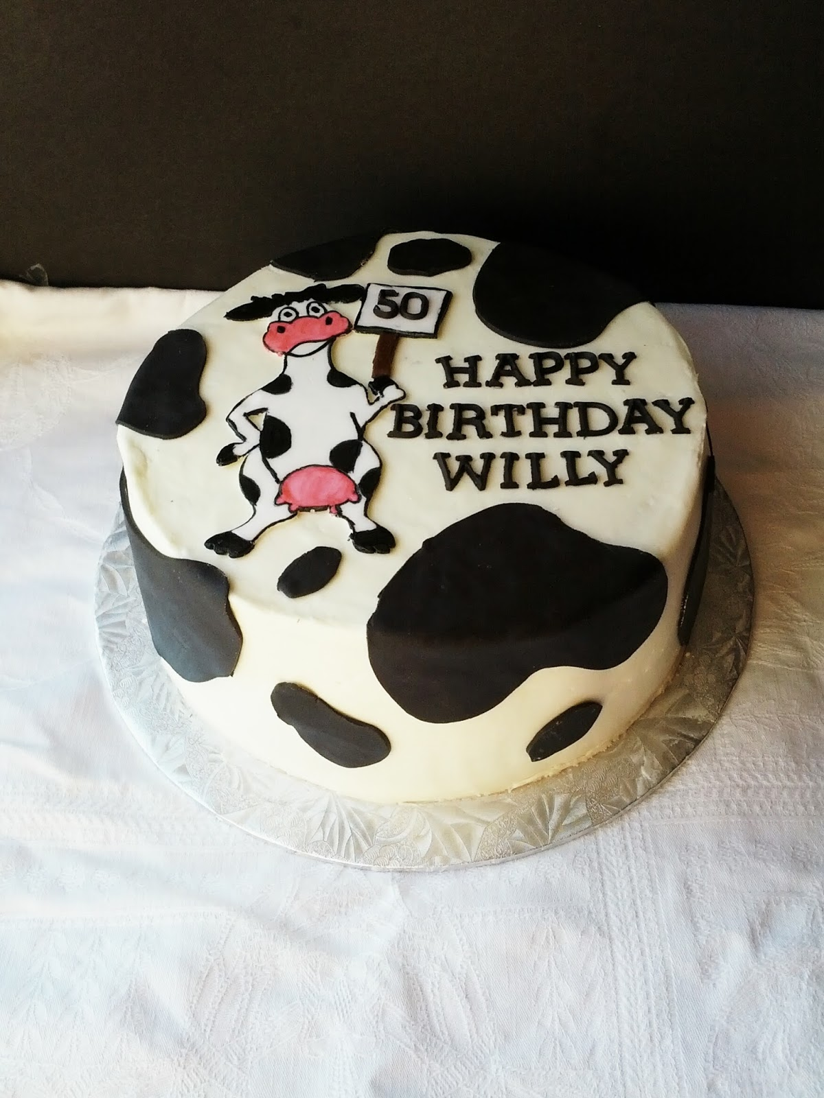 Second Generation Cake Design Cow Themed 50th Birthday Cake