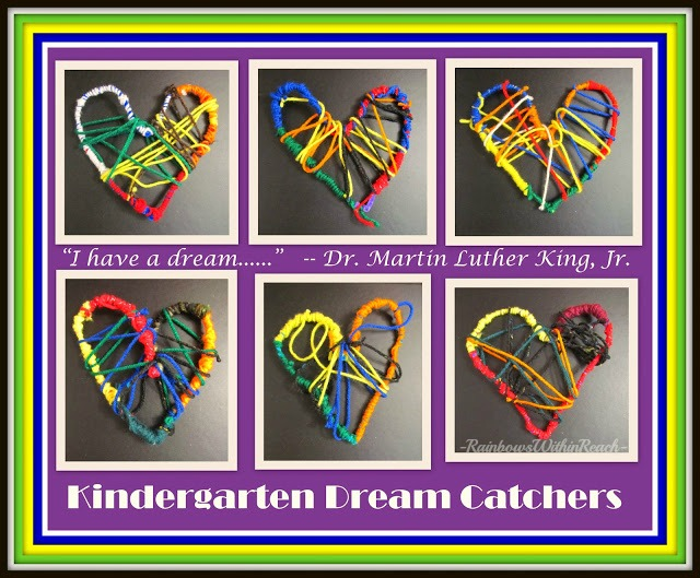 Kindergarten Heart Weavings for RainbowsWithinReach