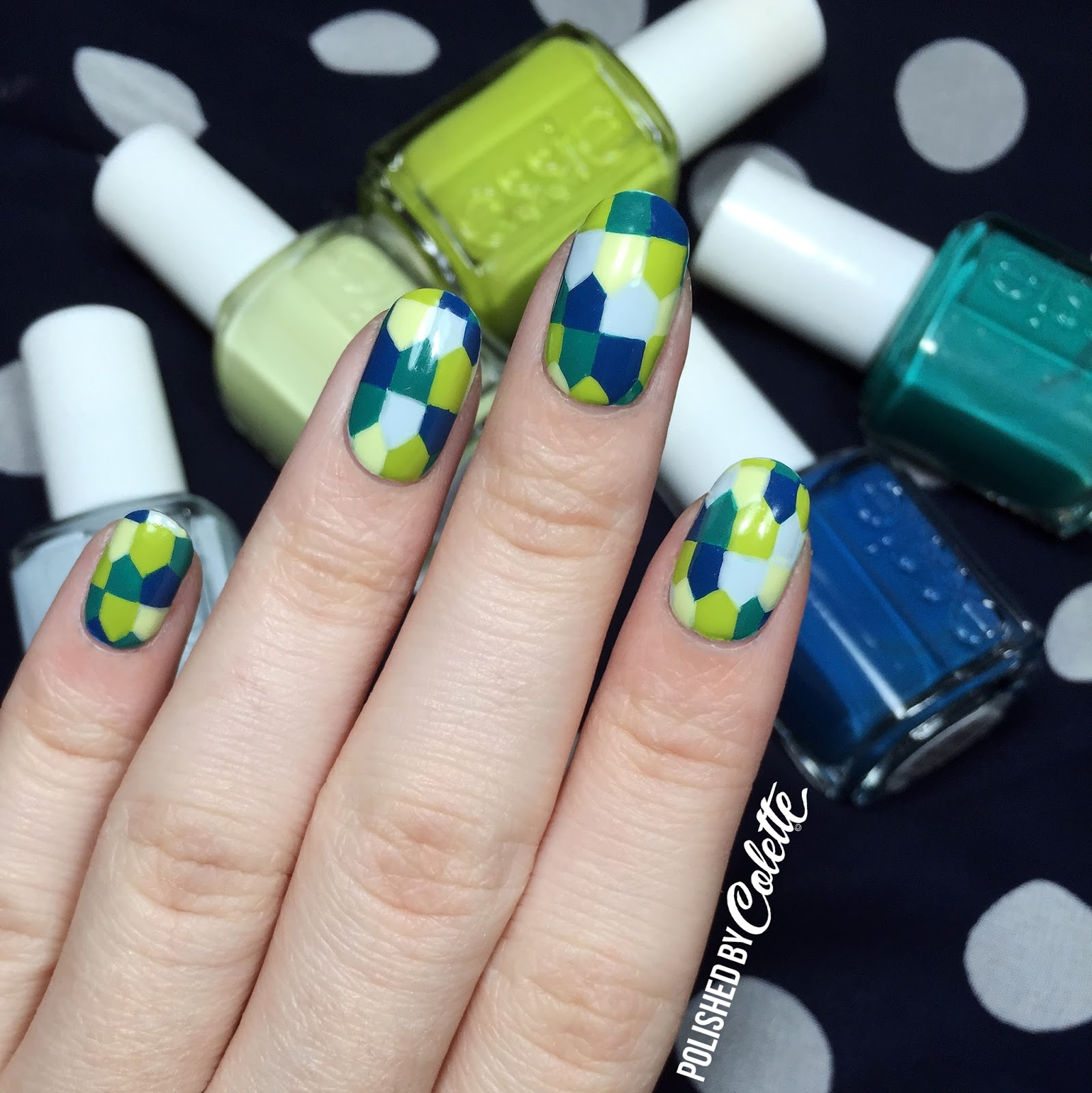 Essie Summer Nail Art & Tutorial - Polished By Colette