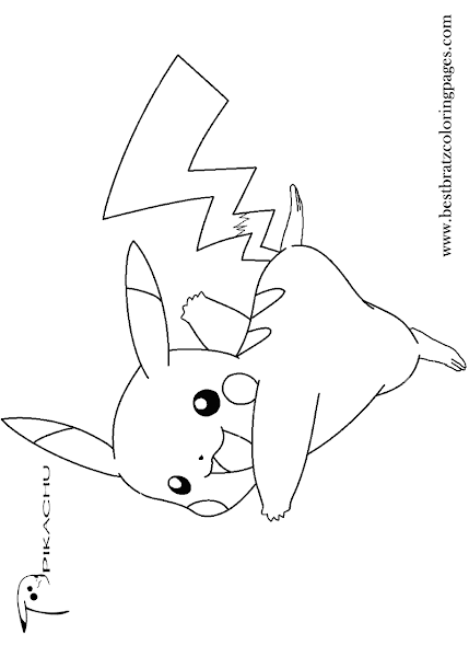 Pokemon Cute Pikachu Coloring Page
