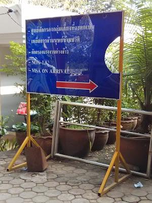 Visa para a Tailândia na Ponte da Amizade