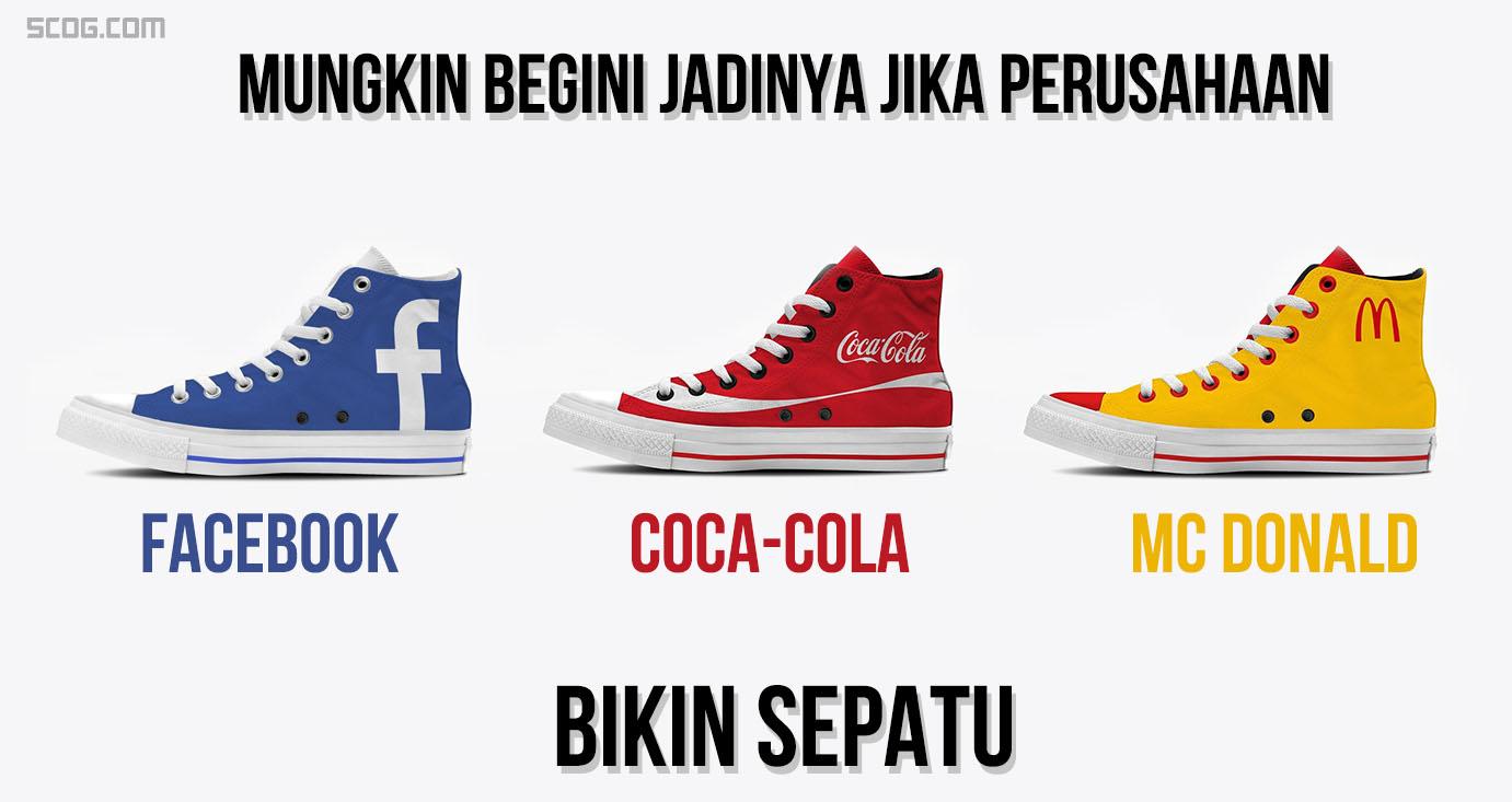 Mungkin Begini Jadinya Jika Perusahaan Seperti Facebook, Google, Coca-Cola Bikin Sepatu