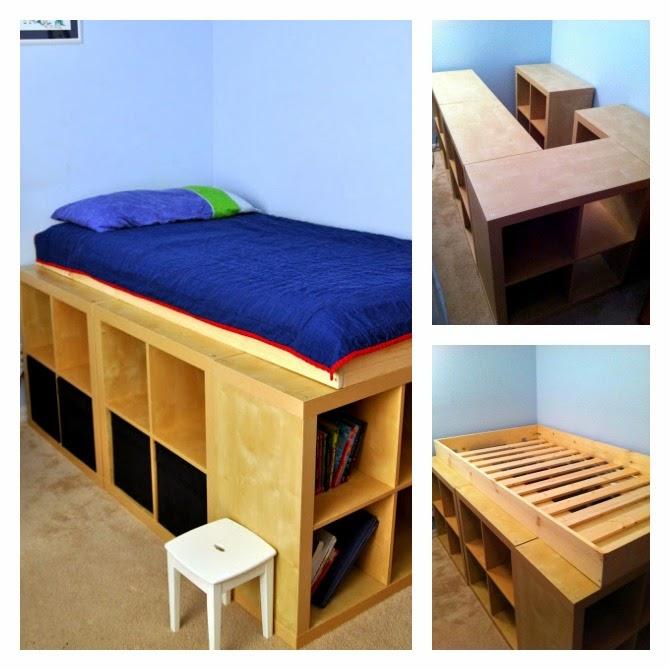 Mi rinc n de sue os hacer camas con espacio para almacenar for Estructura de cama alta ikea