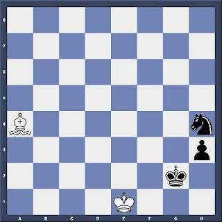 Echecs & Etude : Les Blancs jouent et annulent en quatre coups - Niveau Difficile