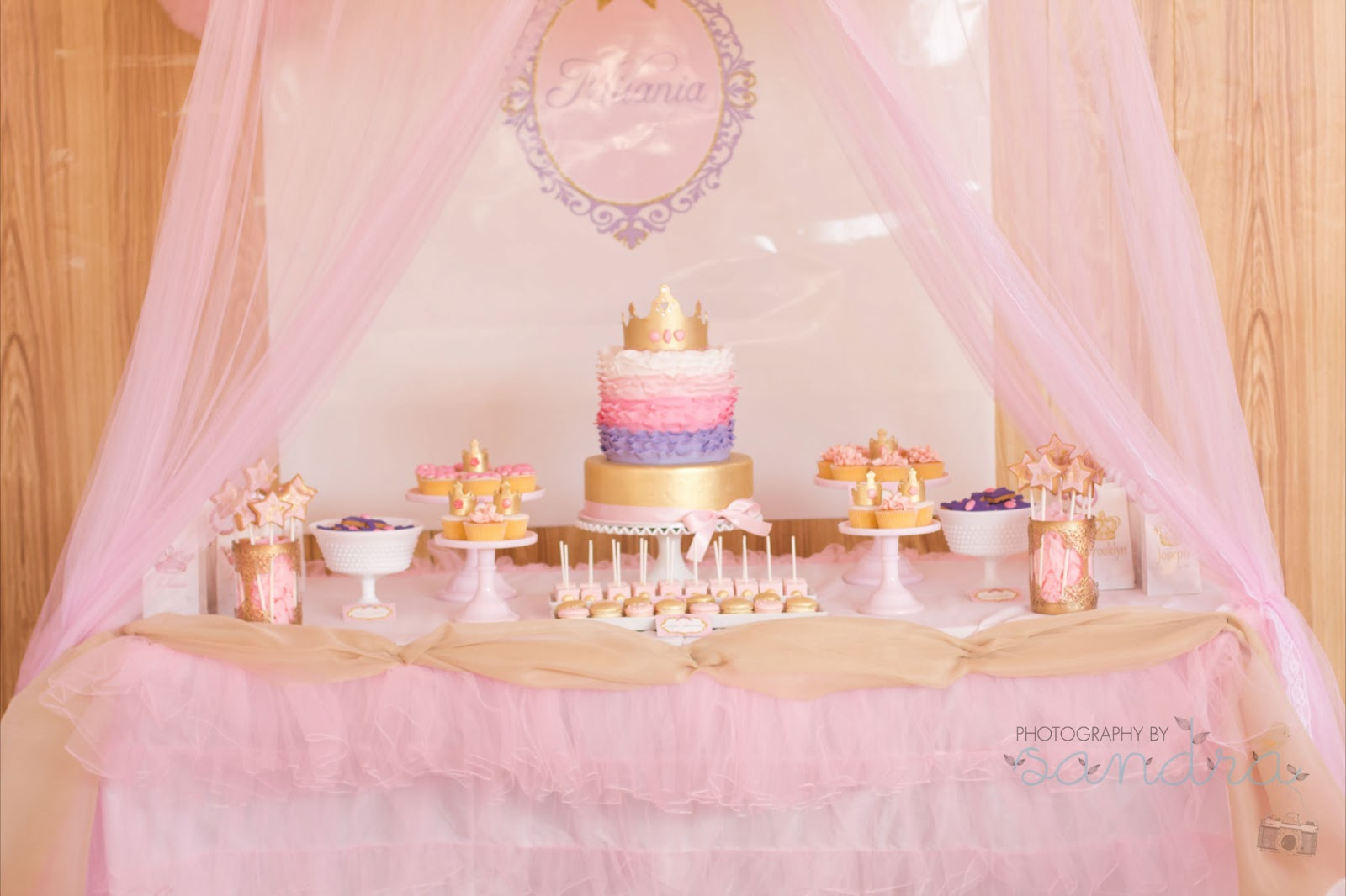 Pink Royal Princess Party For Milanias 1st Birthday By Natalie