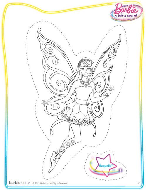 Desenho para pintar Barbie