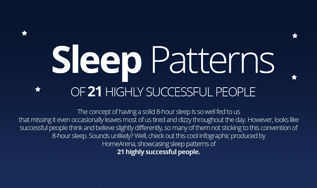 Sleep Patterns Of 21 Highly Successful People