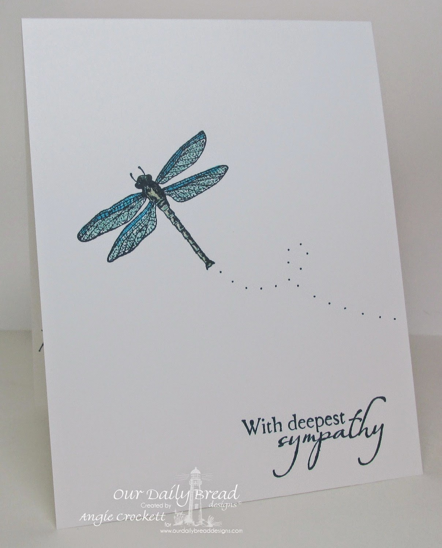 ODBD Faithful Friend, Carried To Heaven, Card Designer Angie Crockett