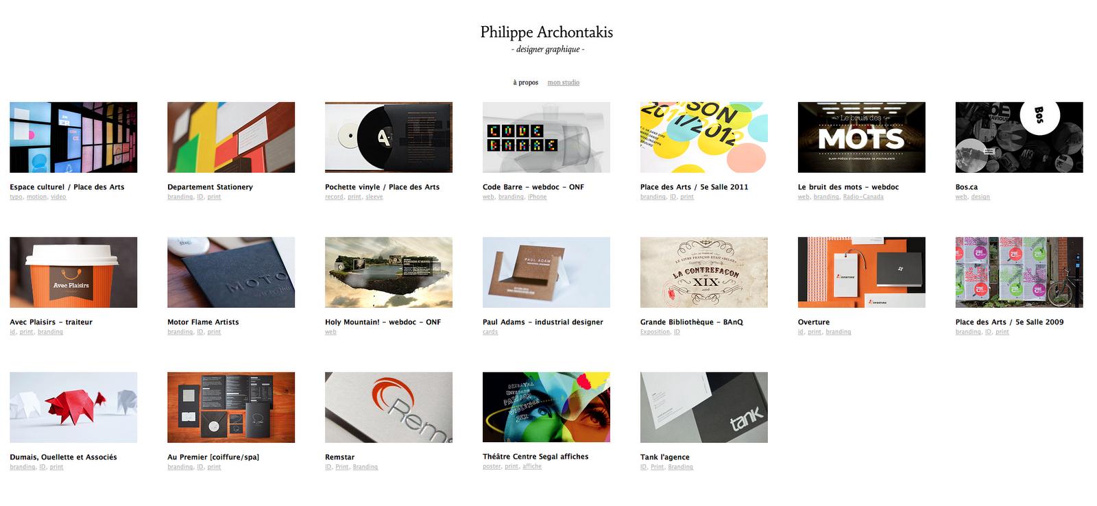 Graphic Design Portfolio Layout