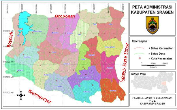 Peta Kabupaten Sragen