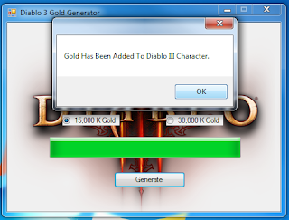 Diablo 3 III Gold Adder Hack v2.1 (2013) free download