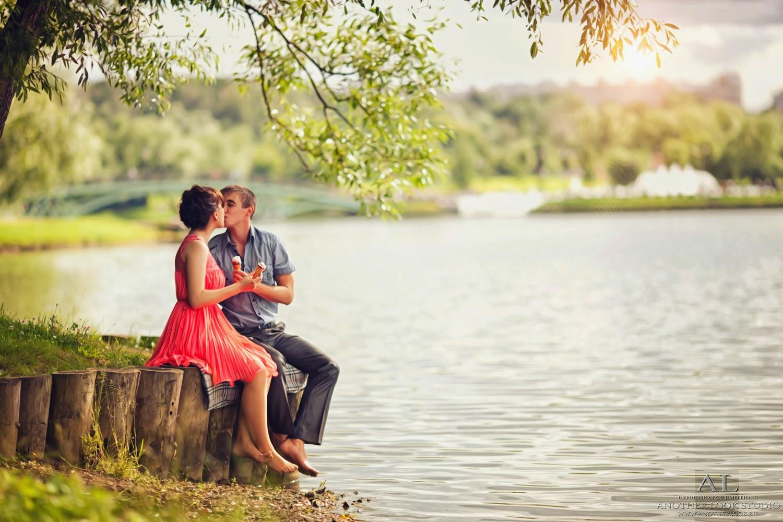 фотосессия пары летом