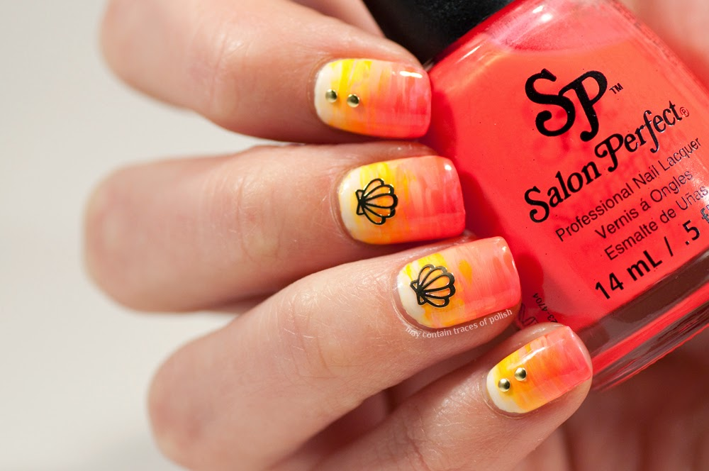 Summer neon gradient nails - May contain traces of polish