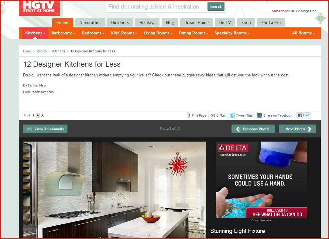 EMI Interior Design, Inc: 12 Designer Kitchens Get the Look for