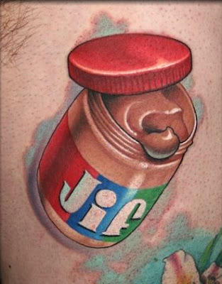 peanut butter, tattoo, jif, jeff ensminger