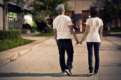 Romantic Couple in street