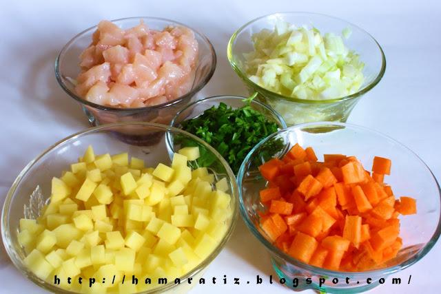 Tavuklu Sebze Yemeği Malzemeleri