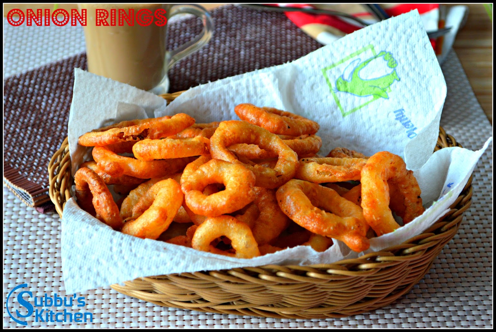 how to make onion ring batter without baking powder