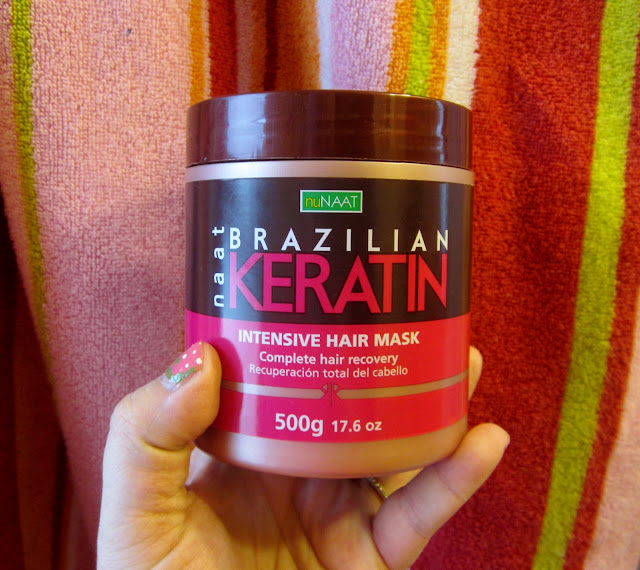 nuNAAT Brazillian keratin hair care mask