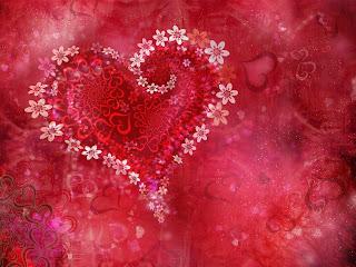 fotografia con dibujo de corazon con flores